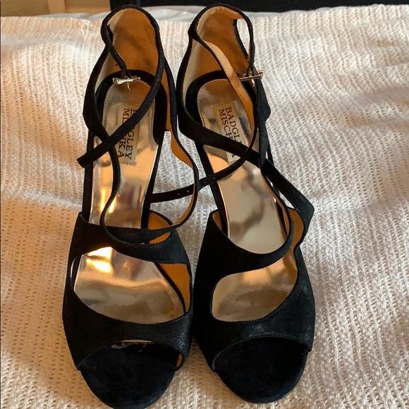 Badgley Mischka Shoes | Black Strappy